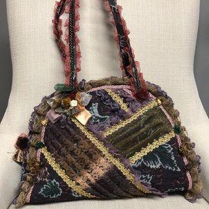 Unique Vintage Like Lace Satchel Bag
